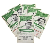 Six Golf with the Masters Brochures - Demaret, Middlecoff, Mangrum, & others