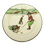 Royal Doulton Give Losers Leave to Speak, and Winners to Laugh Plate - 1911-1932