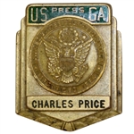 Charles Prices Early Career USGA Press Credential Badge