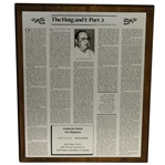 Charles Prices 1983 The Haig and I: Part 2 GWAA First Place Plaque - Writing Competition