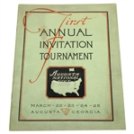 1934 Augusta National Invitation Tournament Program (1st Masters) - NEW FIND! TOP CONDITION!