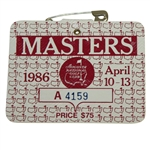 1986 Masters Tournament Series Badge #A-4159 - Jack Nicklaus Winner