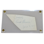 Claude Harmon Signed Cut Dated June 8, 1951- Seldom Seen Masters Champ FULL JSA #Z90647