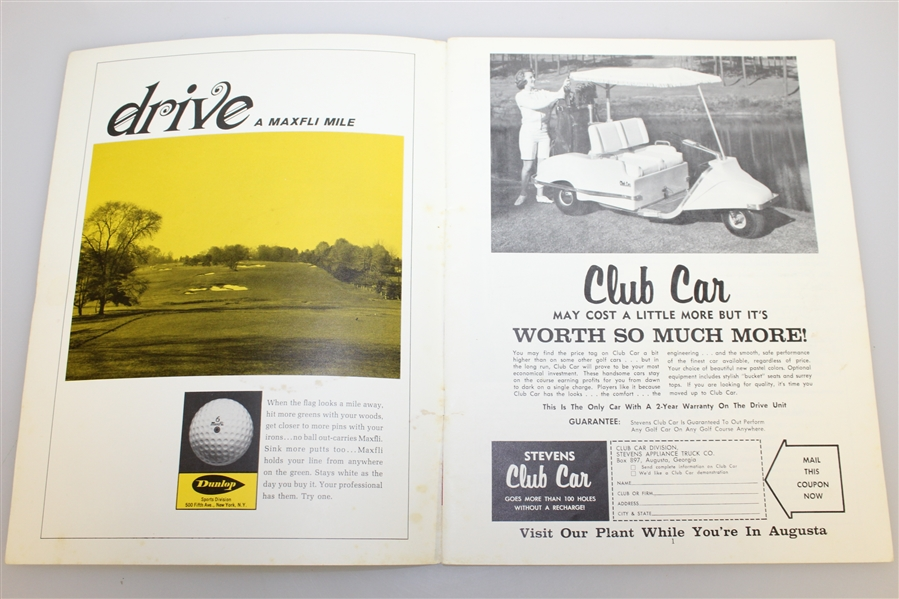 1965 Masters Week 'April in Augusta' Magazine