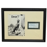 Cary Middlecoff Signed Cut with Photo Display - Framed JSA ALOA