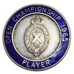 Peter Thomsons 1965 Open Championship Winners Contestant Badge - Stunning 5th Win!