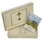 Ryder Cup 1997 Valderrama Porcelain Card Holder with Comm. Playing Cards by Artist Bill Waugh