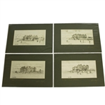 The Royal & Ancient Clubhouse 1860, 1870, 1890, & 2000 Artists Bill Waugh Signed Prints JSA ALOA