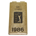 Ray Floyds Personal 1986 PGA Tour Credential Badge/ Money Clip - U.S. Open Winning Year