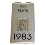 Ray Floyds Personal 1983 PGA Tour Credential Badge/Money Clip- Vardon Trophy Year