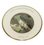 Pine Valley Golf Club Lenox Canada Cup Plate, 1993 - 4<sup>th</sup> Hole, Ariel View