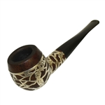 Sterling Silver Overlay Golf Tobacco Pipe
