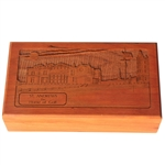 St. Andrews The Home Of Golf Wooden Etched Box - Excellent Condition