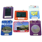 1993, 1994, 1995, 1998, 1999, & 2000 Masters Tournament Series Badges