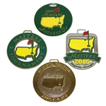 Four Masters Tournament Metal Bag Tags - 2009, 2012, 2014, & 2015