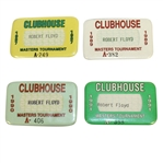 Robert Floyds 1987, 1989, 1990, & 1991 Masters Tournament Clubhouse Badges