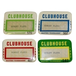 Robert Floyds 1979, 1980, 1981, & 1982 Masters Tournament Clubhouse Badges