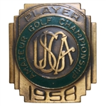 1958 US Amateur Championship at Olympic Club Contestant Badge - Charles Coe Winner