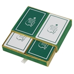 Vintage Augusta National Golf Club Member Playing Cards In Original Case