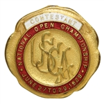 1929 US Open (Jones Win) Contestant Badge of 36 US Open Champ Tony Manero - Stunning Condition!