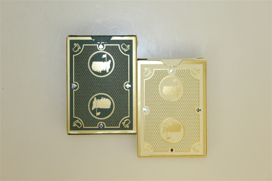 Masters 1934 Collection Playing Cards - Green Set & Gold Set