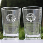 Masters High Ball Glasses w/ Glass Masters Seal On Front