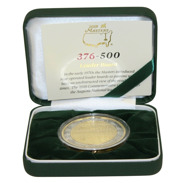 Masters 2018 Limited Edition Commemorative Coin w/ Display Case & Authenticity Note(376/500)