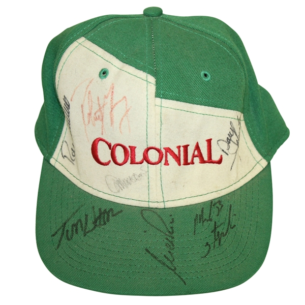 Vintage Multi-Signed Green & White Colonial Hat - Watson, Price, & others JSA ALOA