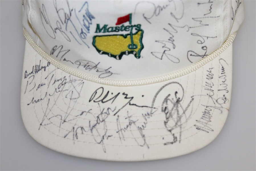 Vintage Multi-Signed White Masters Hat - Watson, Mickelson, Zoeller, & others JSA ALOA