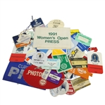 Assorted Press and Photographer Tickets, Badges, and Armbands - 50 Items Incl Masters, US Open, PGA Champ, and More