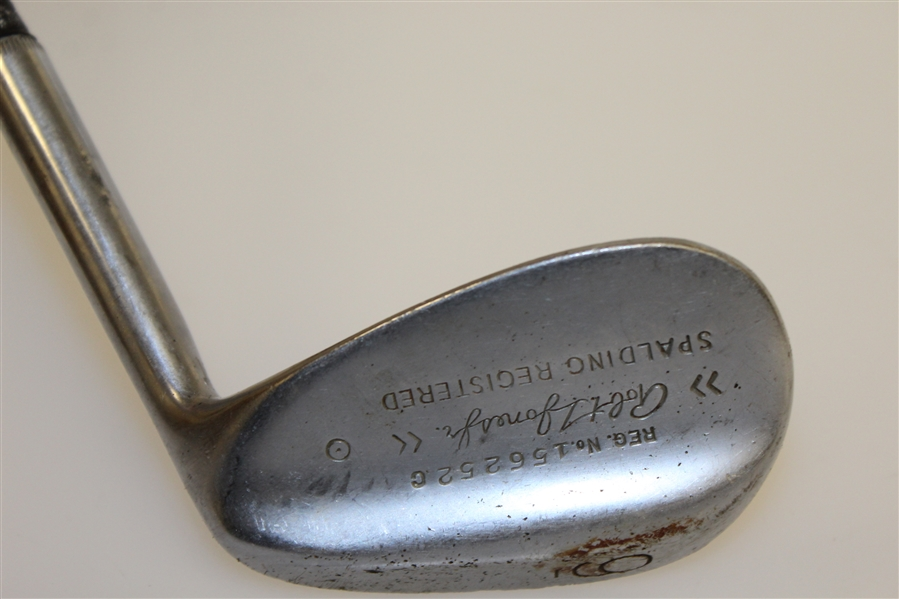 Robert T. Jones Jr. Spalding Registered 9 Iron with Fish Scale Face - Reg #156252C