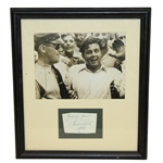 Lawson Little Signed Cut with Photo Display - Framed JSA ALOA