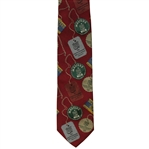 Augusta National Golf Club Member Only Masters Badges Logo Tie