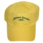 Augusta National Golf Club Member Yellow 1933 Caddy Hat