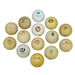 Fourteen Classic Logo Golf Balls - Course, Tournament, and other