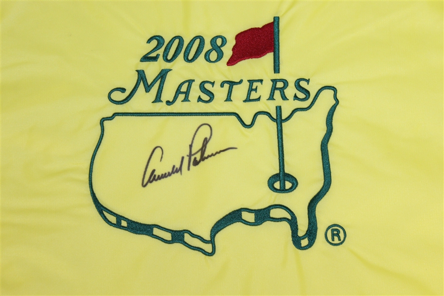 Arnold Palmer Signed 2008 Masters Embroidered Flag JSA ALOA
