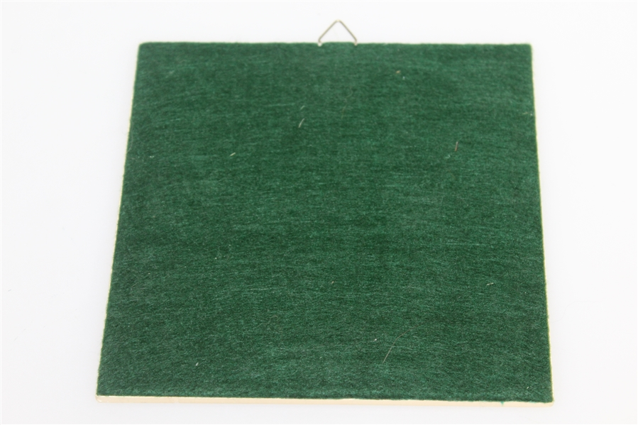 Augusta National Golf Club Clubhouse Green & White Hot Plate