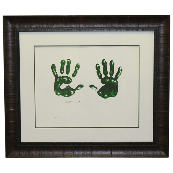 Jack Nicklaus Signed Ltd Ed 'Art of Nicklaus' Masters Hand Print Giclée Framed JSA ALOA