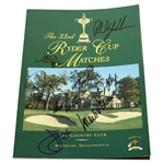 1999 Ryder Cup at The Country Club USA Team Signed Program - Missing Four JSA ALOA