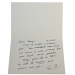 41st President George H. W. Bush Handwritten, Fully Signed Thank You Card to Doug Sanders JSA ALOA