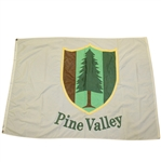 Pine Valley Golf Club Large Clubhouse Tournament Flown White Flag - Ransome 2000