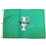 Arnold Palmer Signed The Tradition Green Embroidered Flag in Silver JSA ALOA
