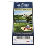 Rory McIlroy Signed 2011 US Open at Congressional CC Saturday Ticket JSA #P37464