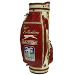 Match Used Seve Ballesteros Red/White Slazenger Golf Bag - 1985 Suntory World Match (Seve Wins!)