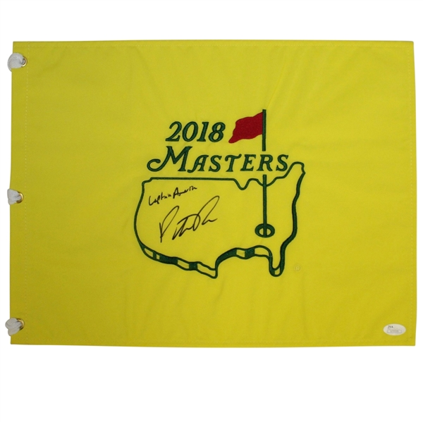 Patrick Reed Signed 2018 Masters Embroidered Flag with 'Captain America' JSA #70599