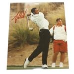 Tiger Woods Signed Classic 1996 College Era Color Photo JSA ALOA