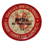 1962 US Open Marshall Badge - Jack Nicklaus 1st Win