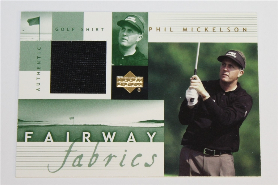 Signed Assorted Cards & Phil Mickelson Fairway Fabrics Card JSA AOLA