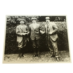 USGA Stamped Photo Of Harry Vardon, Francis Ouimet, & Ted Ray At the 1913 US Open - The Country Club (Brookline, MA)