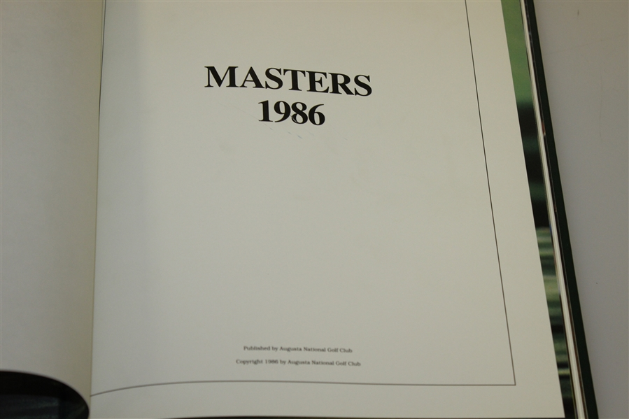 1986 Masters Tournament Annual - Jack Nicklaus Winner